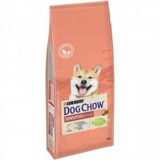DOG CHOW 14кг д/с чувствит.лосось/рис