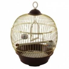 Клетка д/птиц 23*36,5см Триол 23В-G-K круглая золото 50611014