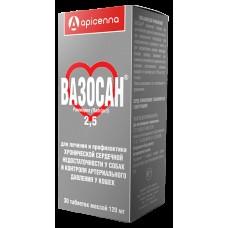 Вазосан (2,5мг для лечения и профилак хронической сердечной недост. у собак и контроля арт28 табл1/5