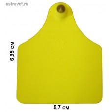 Бирка Male 09 папа (69,5х57) желтая