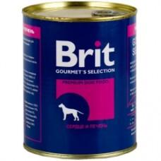 Brit конс 850,0 сердце/печень 1/6