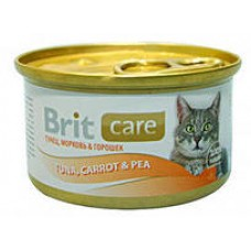 Brit конс 80,0 д/кош тунец/морковь/горошек 100062   1/18*