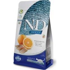FARMINA N&D 1,5 кг д/кошек Аdult рыба/апельсин 1052