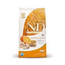 FARMINA N&DНЗ 1,5 кг д/кошек Аdult треска/апельсин 6780