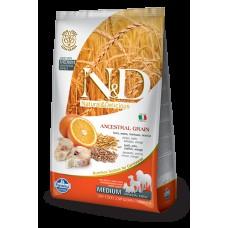 FARMINA N&DНЗ 2,5 кг д/собак Аdult треска/апельсин 1496