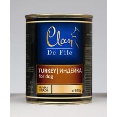 CLAN De File консервы для собак 340 г Индейка (уп-12шт) №62