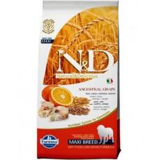 FARMINA N&DНЗ 12 кг д/собак крупных пород Maxi Аdult треска/апельсин 2080
