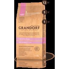GRANDORF DOG 12кг PUPPY ягнёнок с рисом для щенков 5128 1/4