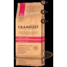 GRANDORF DOG 12кг MEDIUM ягнёнок с рисом для собак средних пород  3123  1/4