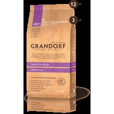 GRANDORF DOG 3кг MAXI ягнёнок с рисом для собак крупных пород  7039  1/9