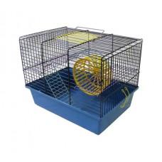 Клетка д/грызунов 38,5*27,5*26,5см Вака (с лесенкой и колесом) 2 этажа