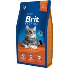 Brit 1,5 кг NEW Premium Cat Indoor курица и печень д/кошек дом.содержания 513246