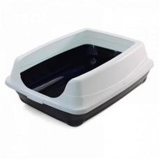 Туалет д/кошек  прямоугольный с высоким бортом 46*35*23см 20452003