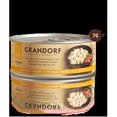 GRANDORF CAT 70,0 конс д/кошек Куриная грудка с утиным филе 2550 1/6