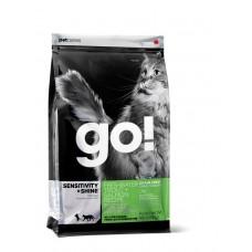 GO! NATURA д/кошек и котят 1,82кг Беззерновой с Чувств.пищеварением: Форель, Лосось 0083