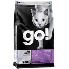 GO! NATURA д/кошек и котят 1,82кг Беззерновой 4 Мяса: Курица, Индейка, Утка и Лосось  0079