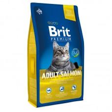 Brit 8кг NEW Premium Cat  Adult Salmon д/взр. кошек с лососем в соусе
