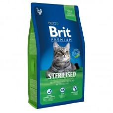 Brit 8кг Premium Cat Sterilised курица и печень для кастрир.котов