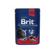 Brit 100гр Premium пауч д/кошек  Beef Stew &Peas Говядина и горошек 100305 1/24