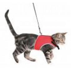 Шлейка мягкая с поводком для кошек, 24–42 см, 1,20 м