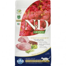 FARMINA N&D Cat Quinoа 300гр Weight Management Lamb д/взр.кошек с ягненком, контроль веса 5752