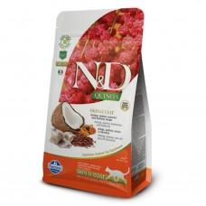 FARMINA N&D Cat Quinoa 1,5кг Skin&Coat Herring для взр.кошек с сельдью, уход за кожей и шерстью 5813