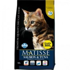 FARMINA Матисс 1,5кг д/взр. кошек Salmon &Tuna с рыбой 2096