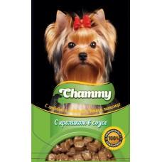 Chammy 85,0 пауч д/собак с кроликом в соусе 1/24