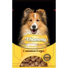 Chammy 85,0 пауч д/собак с ягненком в соусе 1/24