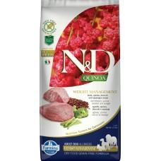 FARMINA N&D Dog Quinoа 2,5кг Weight Management Lamb д/взр.собак с ягненком, контроль веса 5585
