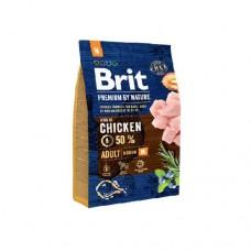 Brit 3кг Premium by Nature Adult M д/собак средних пород 526352