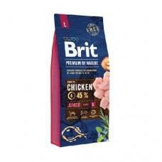 Brit 15кг Premium by Nature Junior L д/молодых собак крупных пород курица 526437