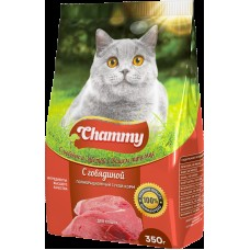 Chammy 350гр сух. д/кошек с говядиной