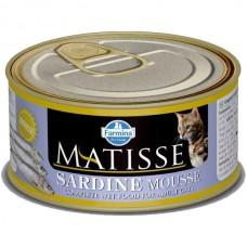 FARMINA Матисс 85гр конс. д/взрослых кошек мусс сардина 2741