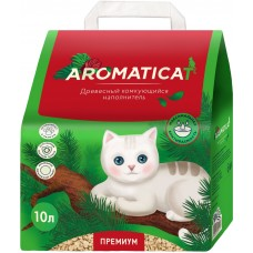 Наполнитель 10л(4кг) Древесный комкующийся наполнитель Aromaticat PREMIUM