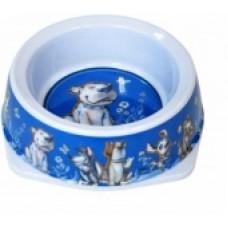 Миска 0,5л голубая