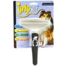 Грабли Grip Soft д/собак двойной ряд зубьев JW 65024