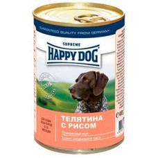 HAPPY DOG 400,0 конс. Телятина с рисом 1465 (00140814   )