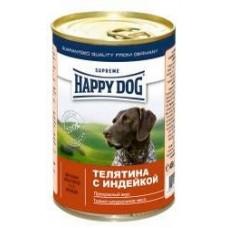 HAPPY DOG 400,0 конс. Телятина с индейкой 1458  1/20 (00141076   )