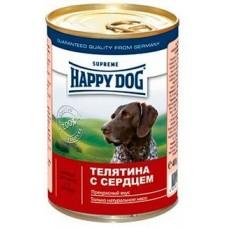 HAPPY DOG 400,0 конс. Телятина с сердцем 1427