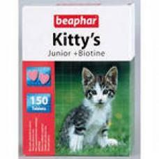 Беафар Киттис Юниор сердечки с биотином д/котят 150 таб. 12508  1/12 (00141585   )