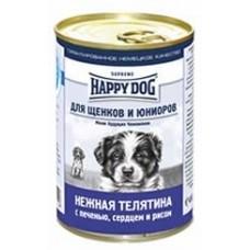 HAPPY DOG 410,0 конс. д/щен телятина/печень/сердце/рис  2196  1/20  (00251193   )