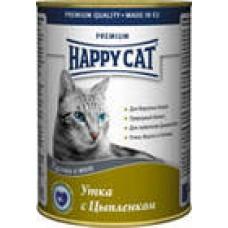 HAPPY CAT 400,0 кон. утка/цыпленок в желе 2200  1/24