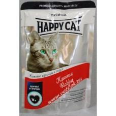 HAPPY CAT 100,0 пауч кролик в соусе  1/22 (00251676   )