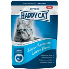 HAPPY CAT 100,0 пауч лосось ломтики в соусе