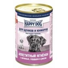 HAPPY DOG 410,0 конс. д/щен ягнен/печень/сердце/рис  2189  1/20