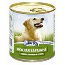 HAPPY DOG 750,0 конс. Вкусная баранина/сердце/печень/рубец 2202  1/20 (00253421   )