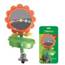 Игрушка д/птиц Триол BR-32 Зеркало с бусиной ванночкой колок 52181015