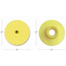 Бирка круглая папа с металл. носиком желтая без надписи (27*27)  (00256174   )