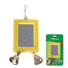 Игрушка д/птиц Триол BR-7 Зеркало с 2- мя колокольч. 14*7см 52181020